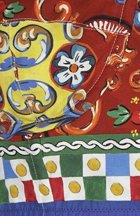 Топ-бюстье на бретельках и ярким принтом Dolce & Gabbana разноцветный | Фото №3