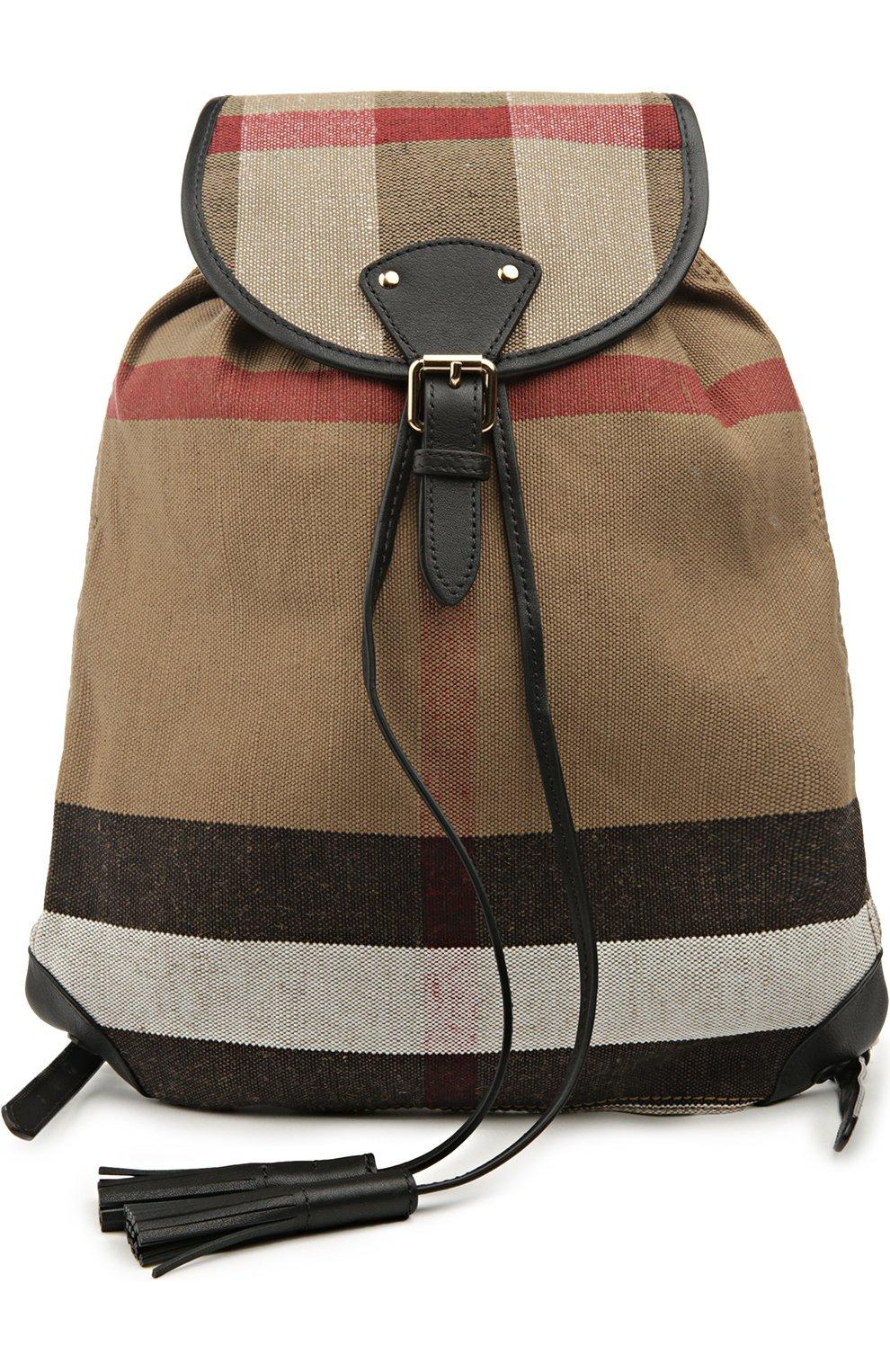 Рюкзак Chiltern из клетчатого текстиля с кожаной отделкой | Фото №1