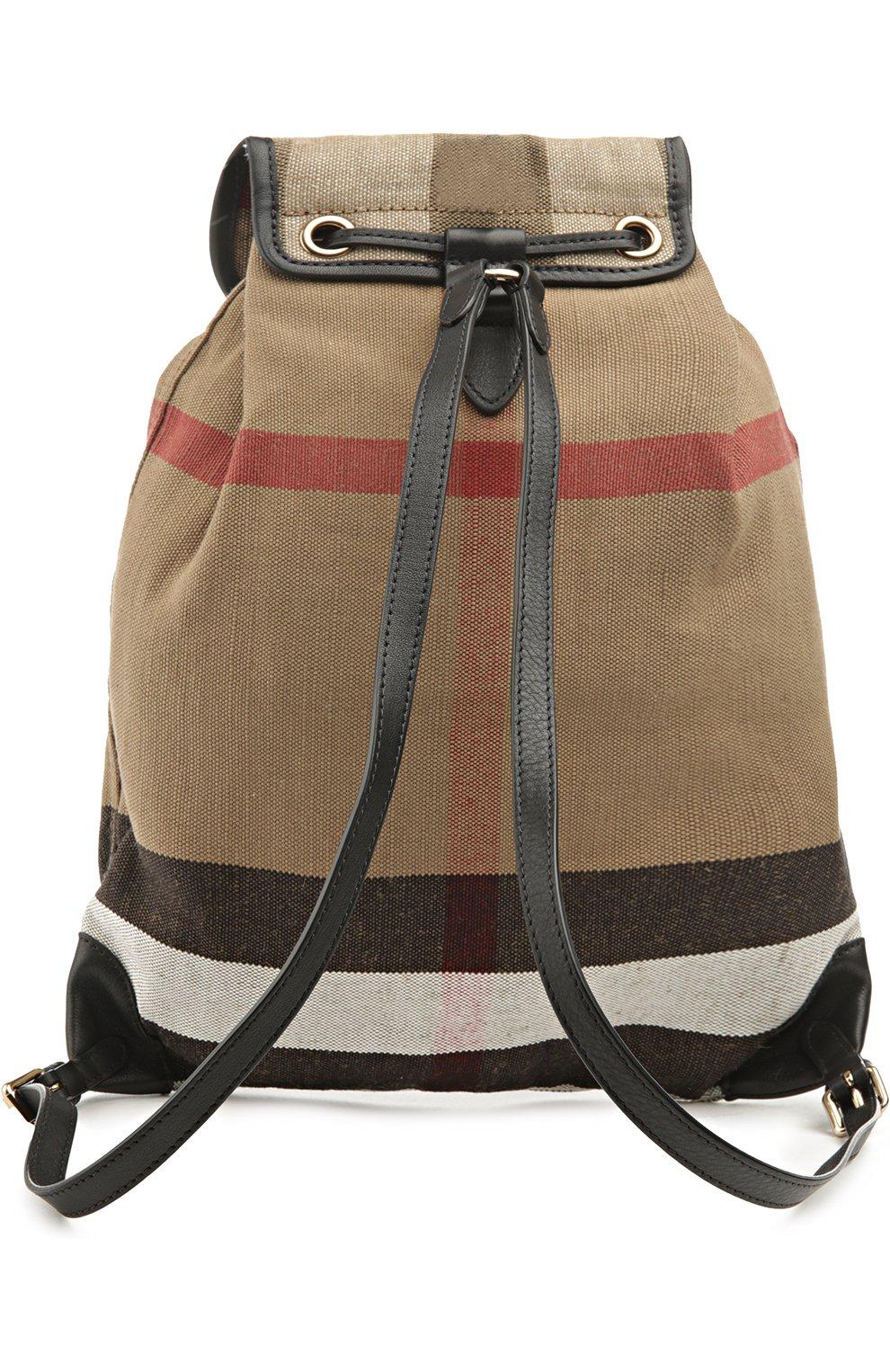 Рюкзак Chiltern из клетчатого текстиля с кожаной отделкой | Фото №2