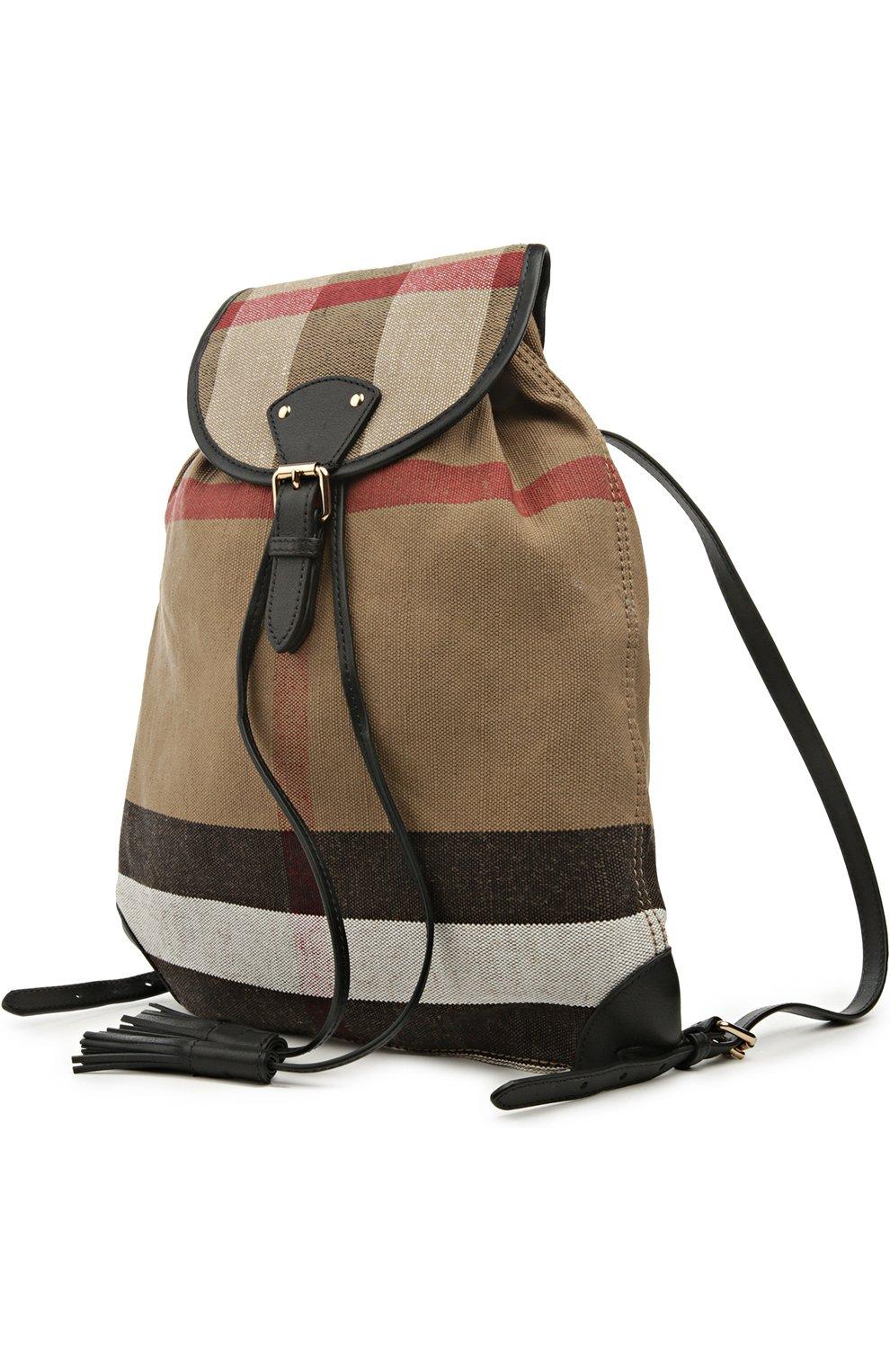 Рюкзак Chiltern из клетчатого текстиля с кожаной отделкой | Фото №3