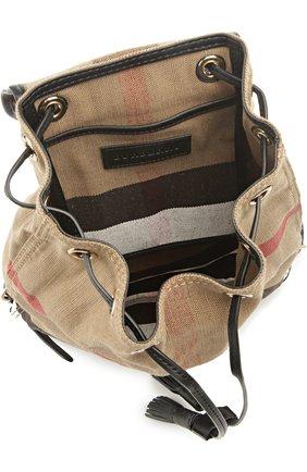Рюкзак Chiltern из клетчатого текстиля с кожаной отделкой | Фото №4