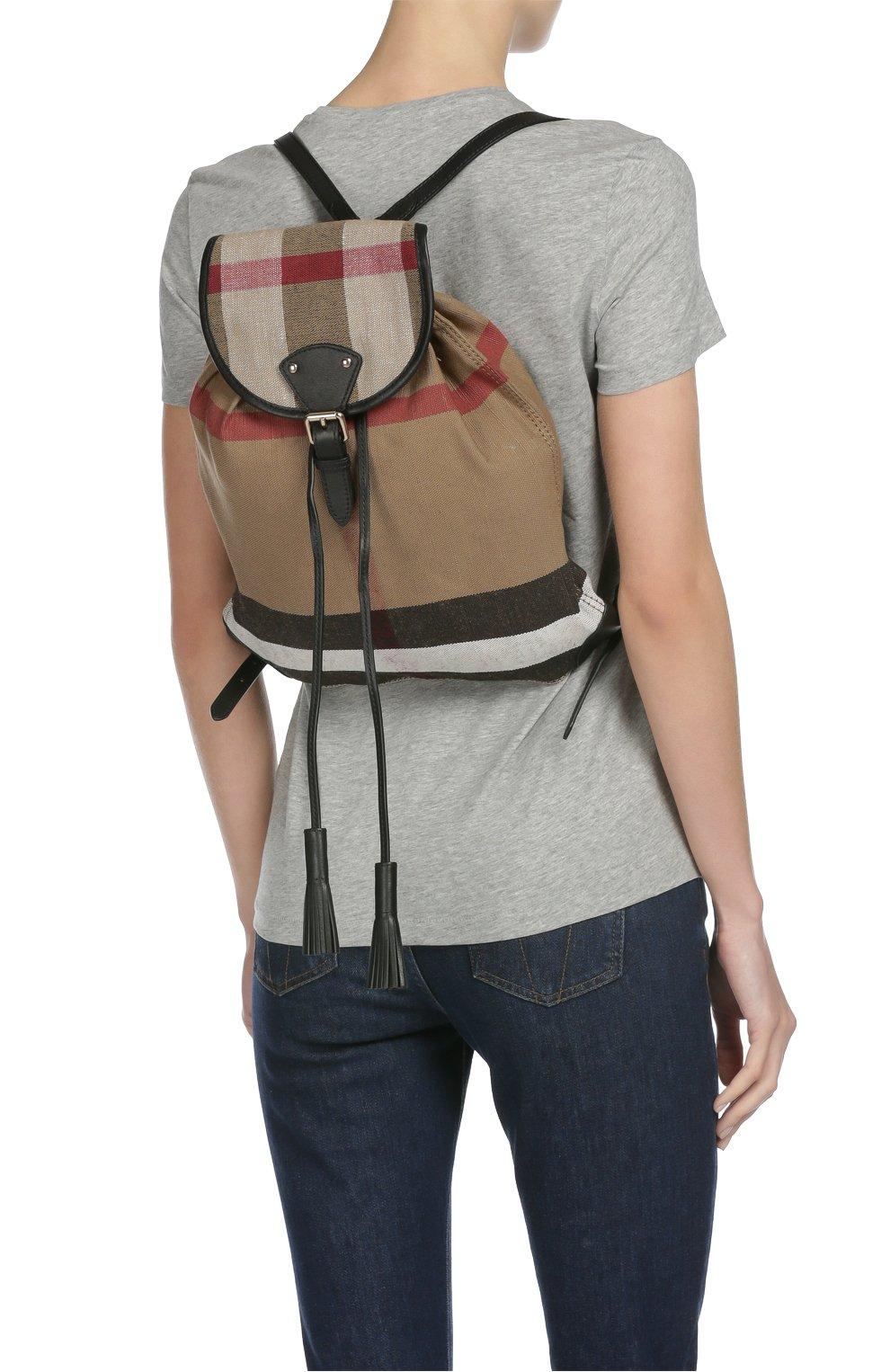 Рюкзак Chiltern из клетчатого текстиля с кожаной отделкой | Фото №7