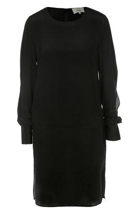 Прямое мини-платье с бантами на рукавах   Фото №1