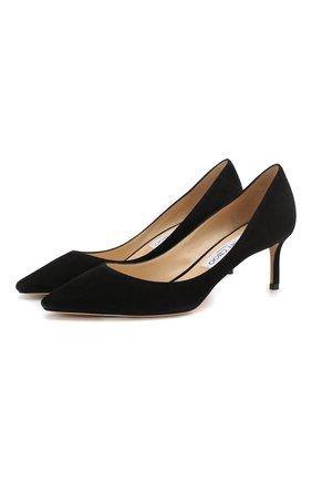 Женская замшевые туфли romy 60 JIMMY CHOO черного цвета, арт. R0MY 60/SUE | Фото 1