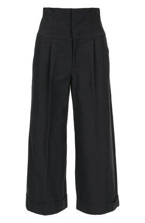 Укороченные брюки с завышенной талией на шнуровке REDVALENTINO черные | Фото №1
