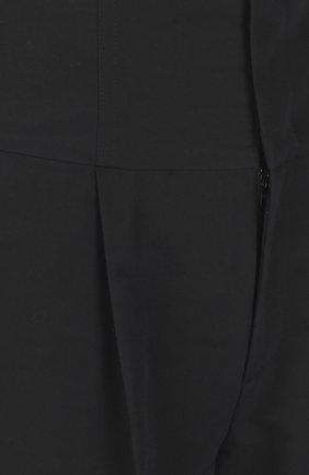 Укороченные брюки с завышенной талией на шнуровке REDVALENTINO черные | Фото №3