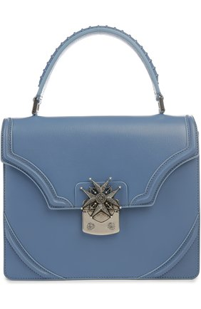 Кожаная сумка с клапаном Satchel   Фото №1
