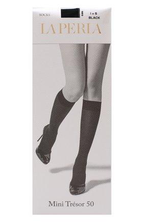 Женские капроновые гольфы LA PERLA черного цвета, арт. 53970 | Фото 1