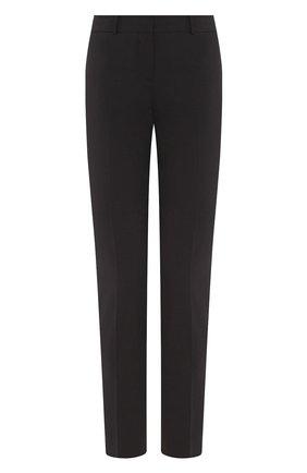 Женские шерстяные брюки BOSS черного цвета, арт. 50291861 | Фото 1