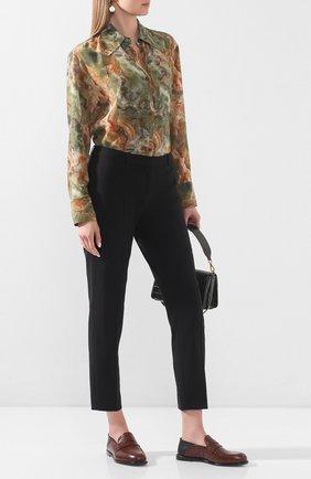 Женские шерстяные брюки BOSS черного цвета, арт. 50291861 | Фото 2