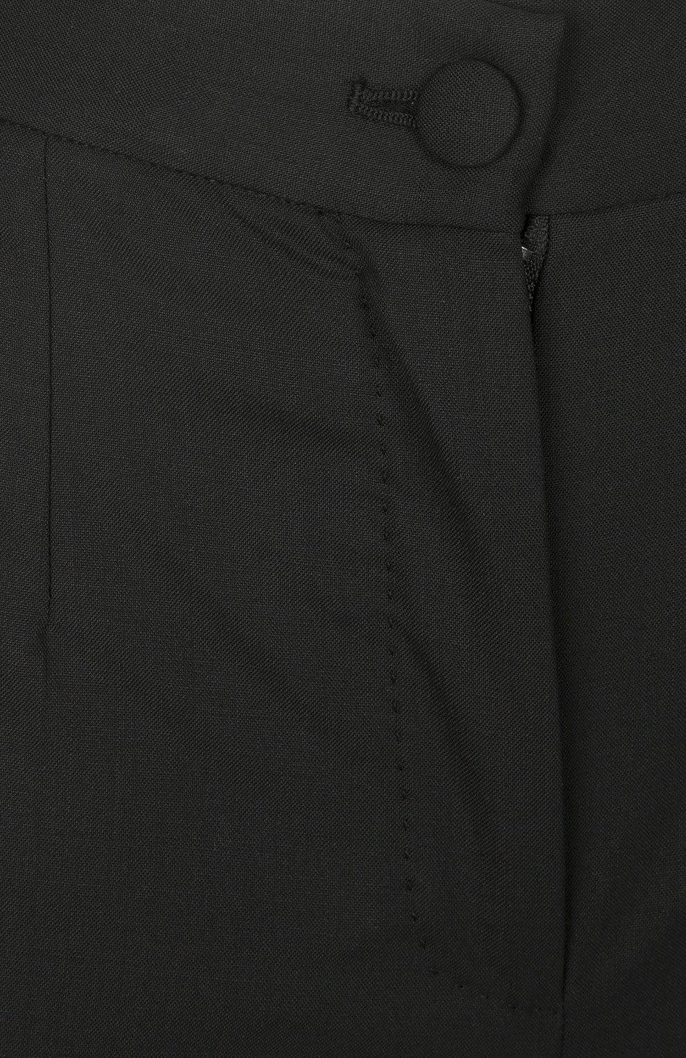 Брюки-скинни с завышенной талией Dolce & Gabbana черные | Фото №3