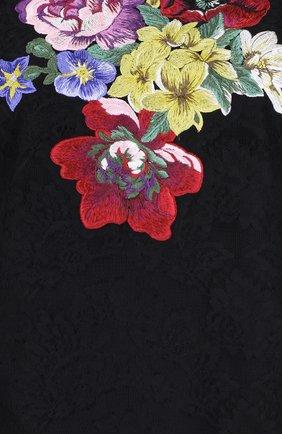 Кружевной топ без рукавов с вышивкой Dolce & Gabbana черный | Фото №3