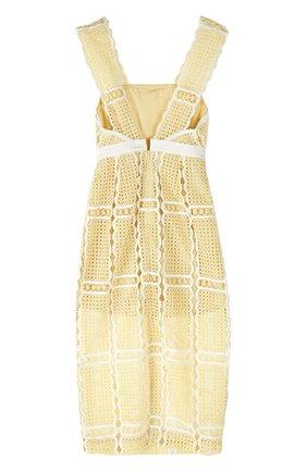 Облегающее кружевное платье с завышенной талией Alice McCall желтое | Фото №1