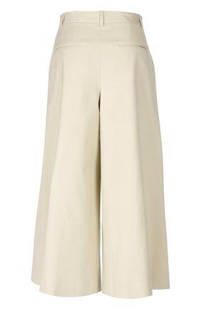Укороченные широкие брюки с завышенной талией Dolce & Gabbana бежевые | Фото №2