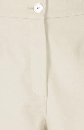Укороченные широкие брюки с завышенной талией Dolce & Gabbana бежевые | Фото №3