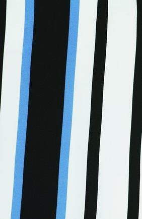 Приталенное платье без рукавов в полоску Dolce & Gabbana синее | Фото №3