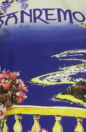 Шелковый топ прямого кроя с ярким принтом Dolce & Gabbana разноцветный | Фото №3