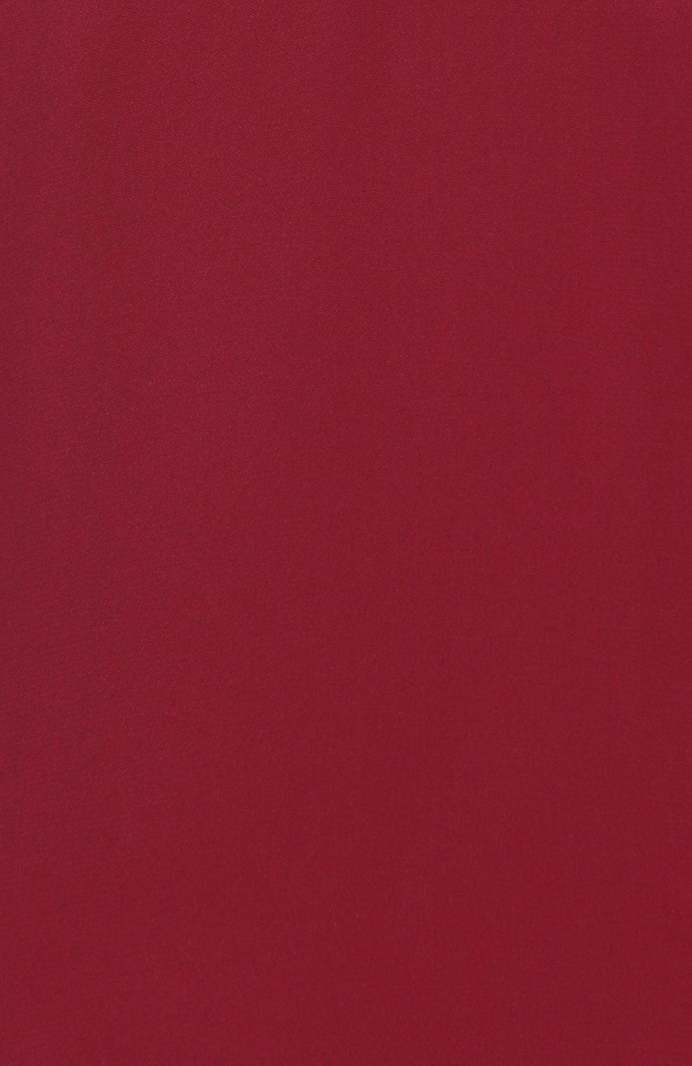 Шелковая приталенная блуза REDVALENTINO бордовая | Фото №3