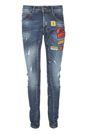 Зауженные джинсы с нашивками | Фото №1