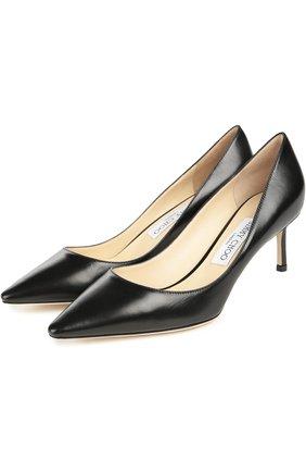 Женская кожаные туфли romy на шпильке JIMMY CHOO черного цвета, арт. R0MY 60/KID | Фото 2