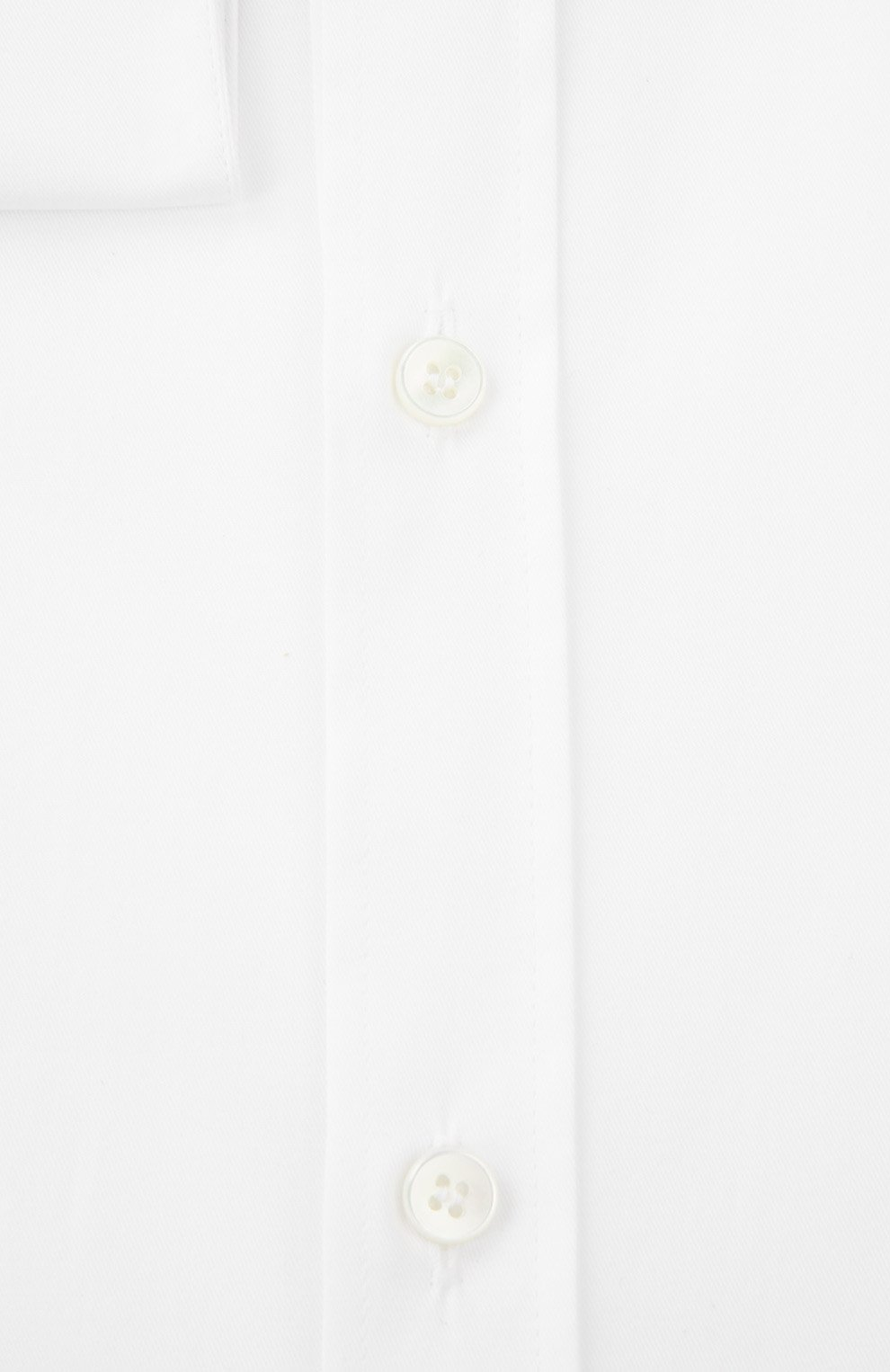 Хлопковая сорочка с воротником кент  Dolce & Gabbana белая | Фото №2