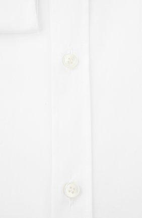 Мужская хлопковая сорочка с воротником кент  DOLCE & GABBANA белого цвета, арт. 0101/G5DE1T/FUECM | Фото 2