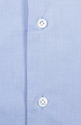 Сорочка из фактурного хлопка с воротником акула Cantarelli голубая | Фото №1