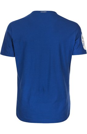 Хлопковая футболка с принтом Dolce & Gabbana синяя | Фото №2