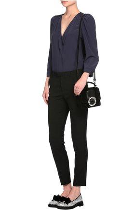 Прямые брюки со стрелками REDVALENTINO черные | Фото №4