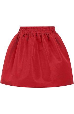 Мини юбка-тюльпан с эластичным поясом REDVALENTINO бордовая | Фото №1