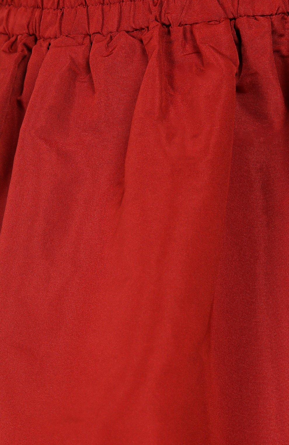 Мини юбка-тюльпан с эластичным поясом REDVALENTINO бордовая | Фото №5