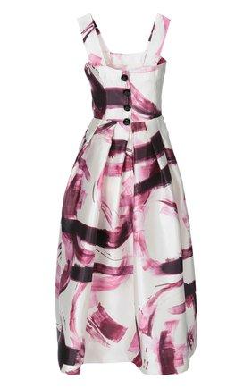 Шелковый приталенный сарафан с ярким принтом Dolce & Gabbana бордовое | Фото №2