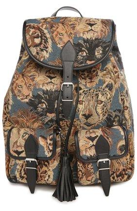 Рюкзак с отделкой из кожи и принтом | Фото №1