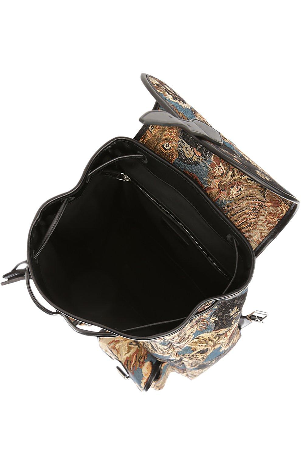Рюкзак с отделкой из кожи и принтом   Фото №3