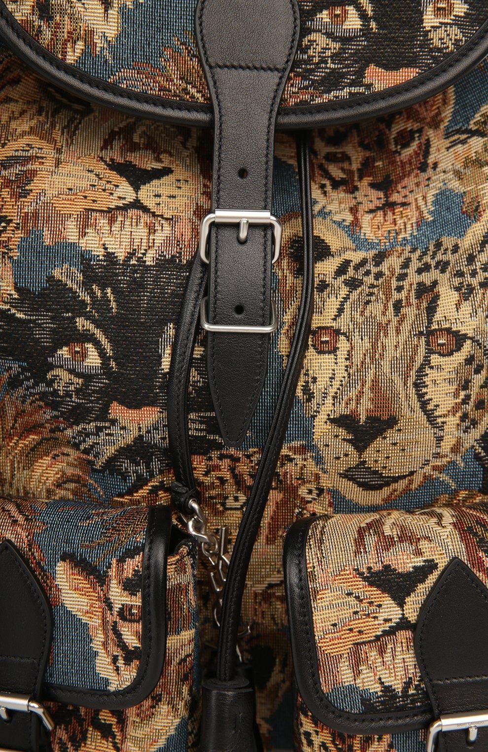 Рюкзак с отделкой из кожи и принтом   Фото №5