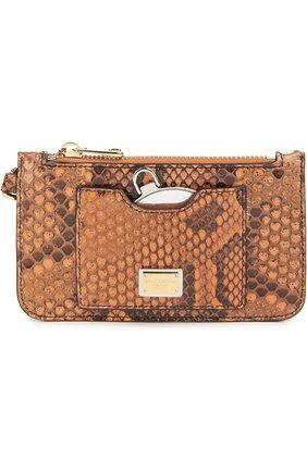 Плетеная сумка-корзинка Agnese с аксессуарами из кожи питона и игуаны Dolce & Gabbana разноцветная цвета | Фото №3