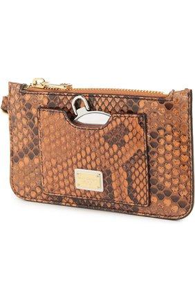 Плетеная сумка-корзинка Agnese с аксессуарами из кожи питона и игуаны Dolce & Gabbana разноцветная цвета | Фото №5