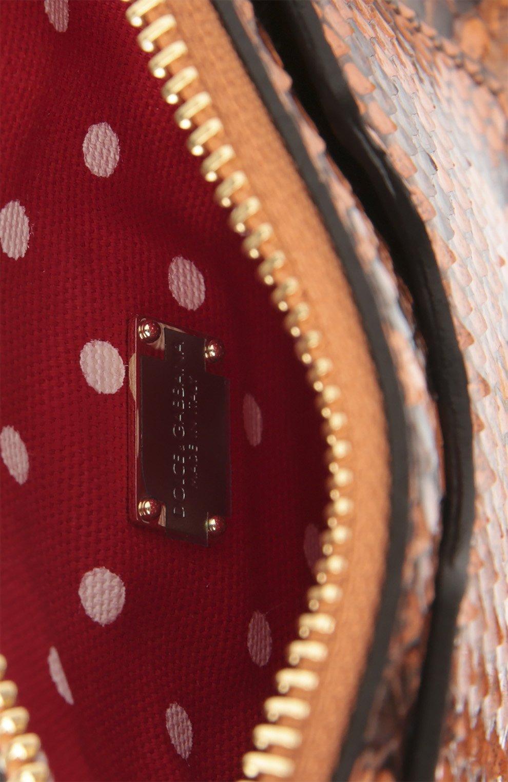 Плетеная сумка-корзинка Agnese с аксессуарами из кожи питона и игуаны Dolce & Gabbana разноцветная цвета | Фото №6