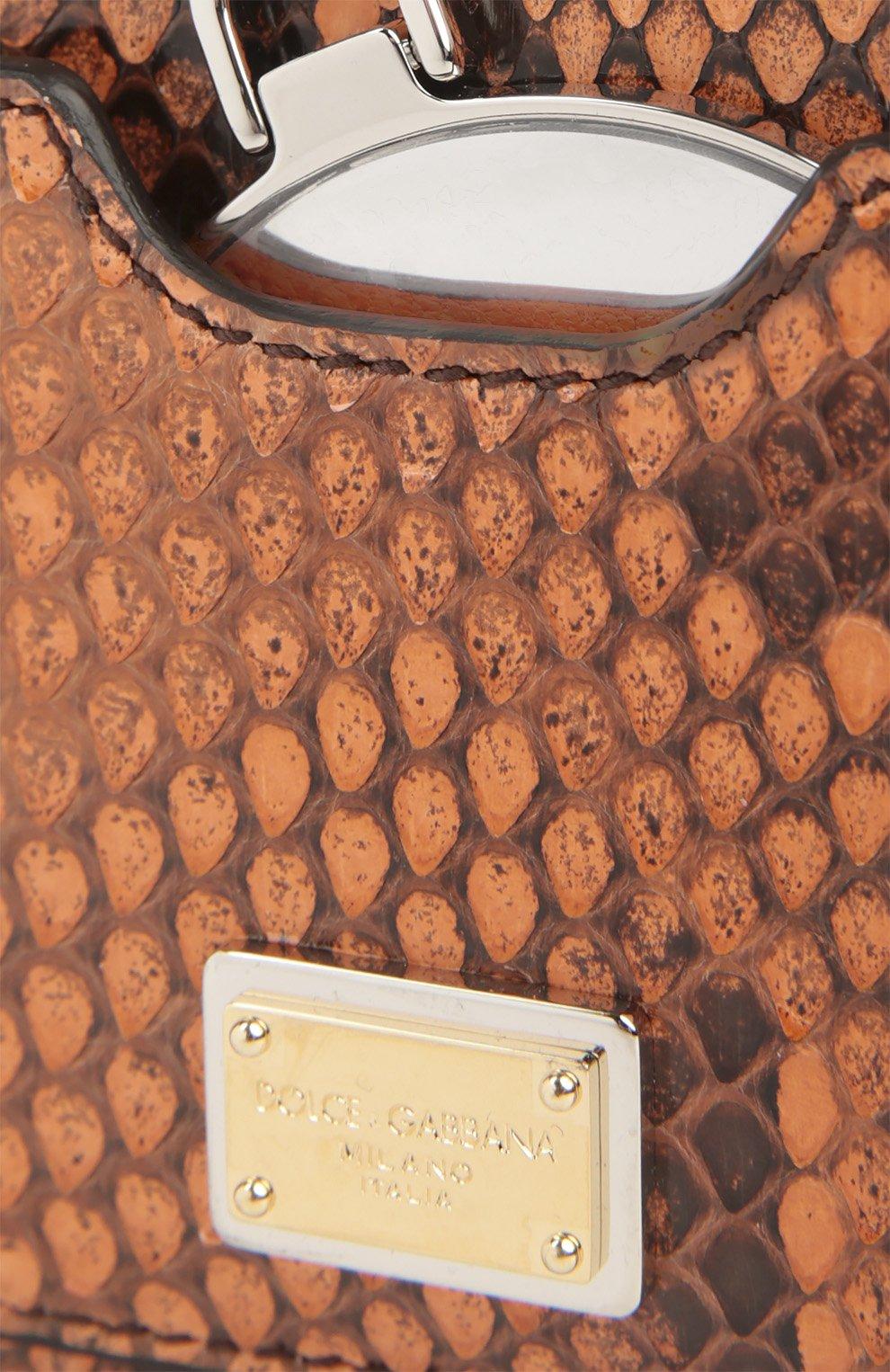 Плетеная сумка-корзинка Agnese с аксессуарами из кожи питона и игуаны Dolce & Gabbana разноцветная цвета | Фото №7