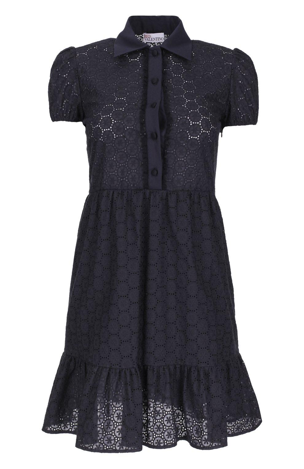 Кружевное приталенное платье-рубашка   Фото №1