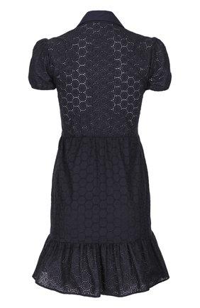 Кружевное приталенное платье-рубашка REDVALENTINO черное   Фото №2