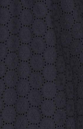 Кружевное приталенное платье-рубашка REDVALENTINO черное   Фото №3