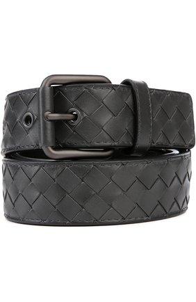 Мужской кожаный ремень BOTTEGA VENETA темно-серого цвета, арт. 407396/V4650 | Фото 1