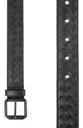 Мужской кожаный ремень BOTTEGA VENETA темно-серого цвета, арт. 407396/V4650 | Фото 2