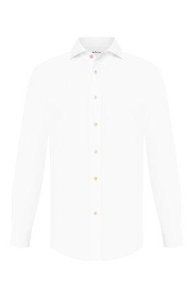 Мужская хлопковая сорочка KITON белого цвета, арт. UCID/H003101 | Фото 1