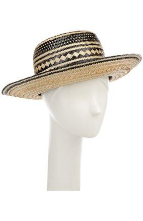 Соломенная шляпа с декоративными помпонами | Фото №1