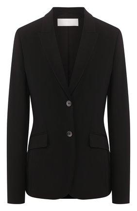 Женский шерстяной жакет  BOSS черного цвета, арт. 50291853 | Фото 1