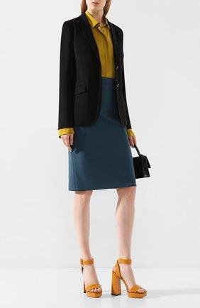 Женский шерстяной жакет  BOSS черного цвета, арт. 50291853 | Фото 2
