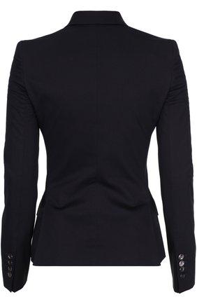 Приталенный жакет на пуговицах с карманами Dolce & Gabbana черный | Фото №2