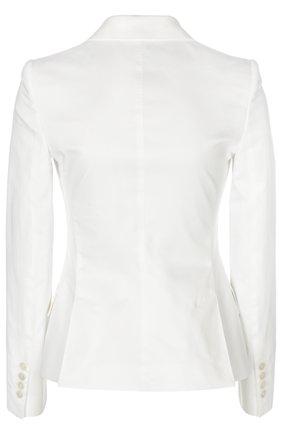 Приталенный жакет на пуговицах с карманами Dolce & Gabbana белый | Фото №2